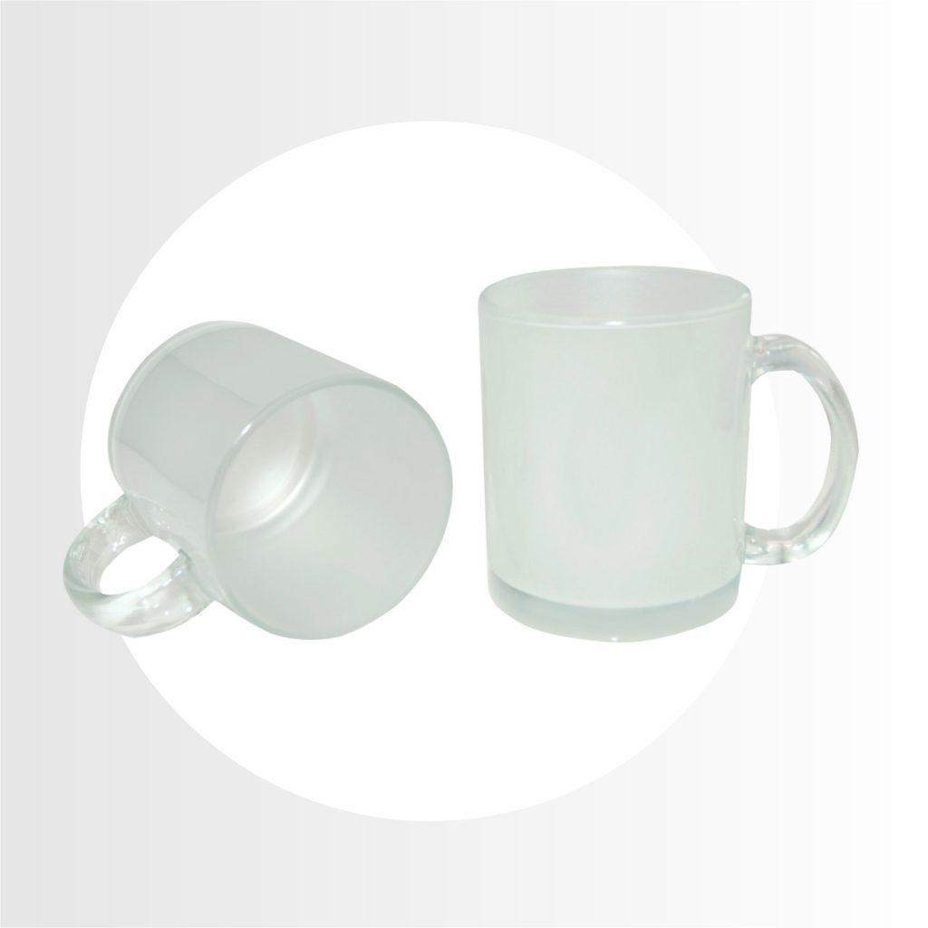 Taza de vidrio pavonada -Precio 6.50