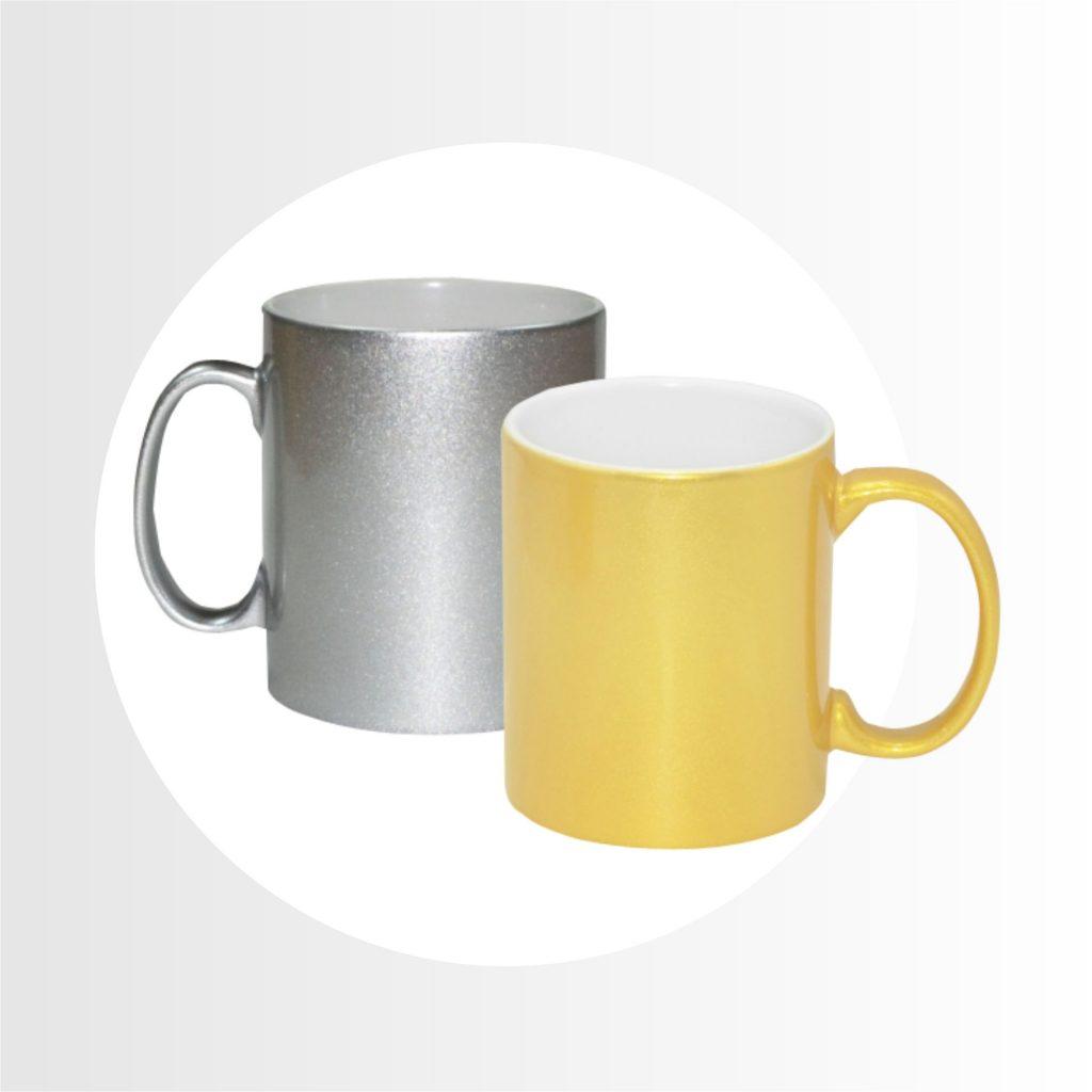 tazas dorada y plateada-Precio 9.00