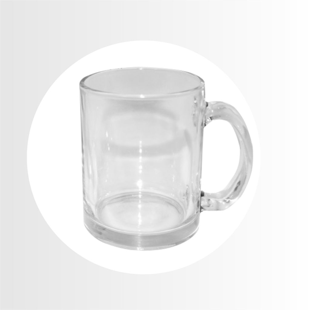 taza de vidrio- Precio 6.50